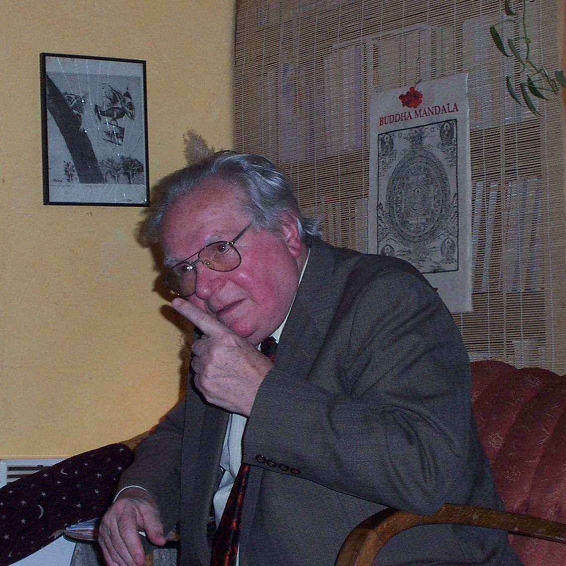 Ludvík Kundera v čajovně 10/2003
